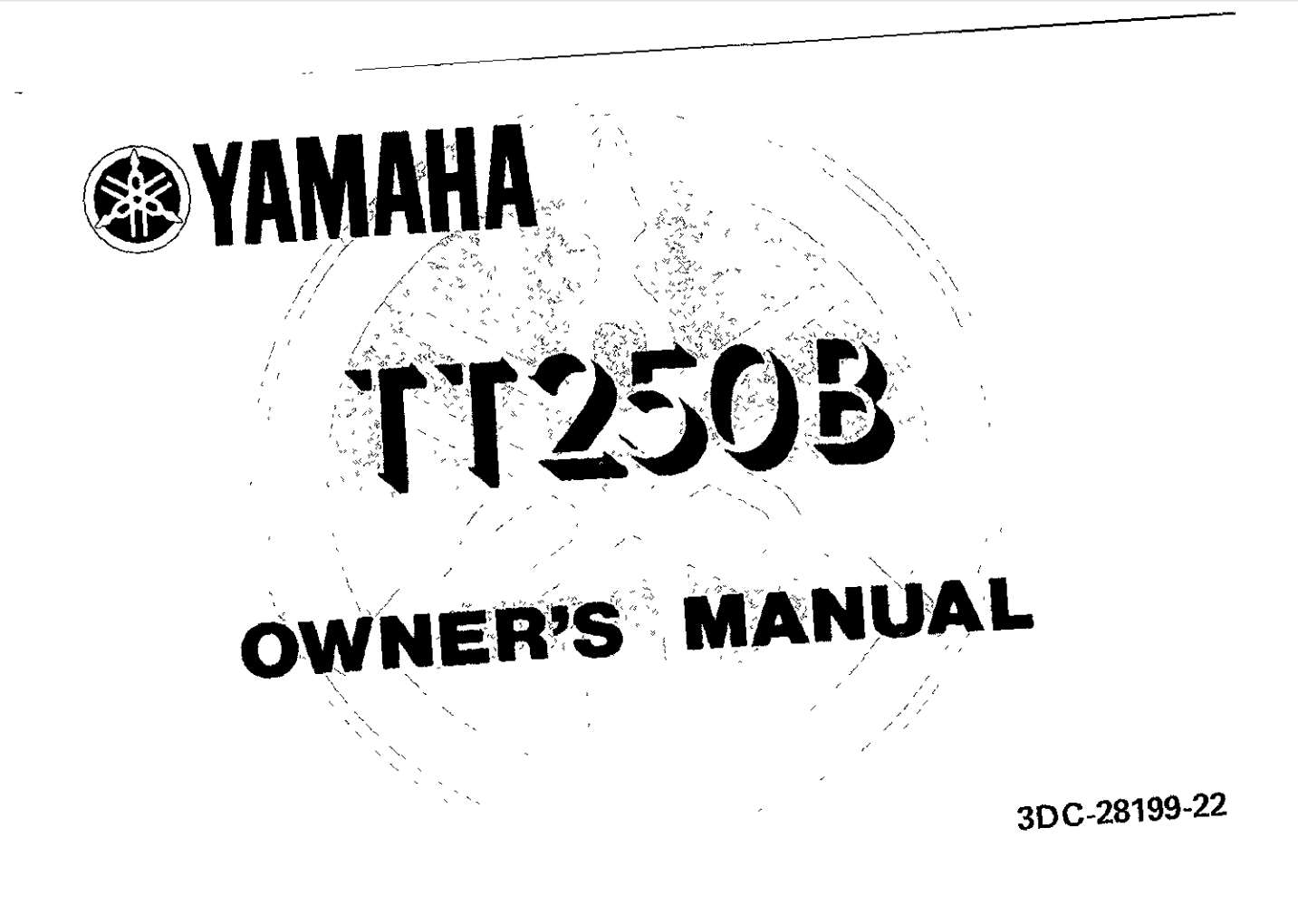 Yamaha TT250 B 1991 Owner's Manual