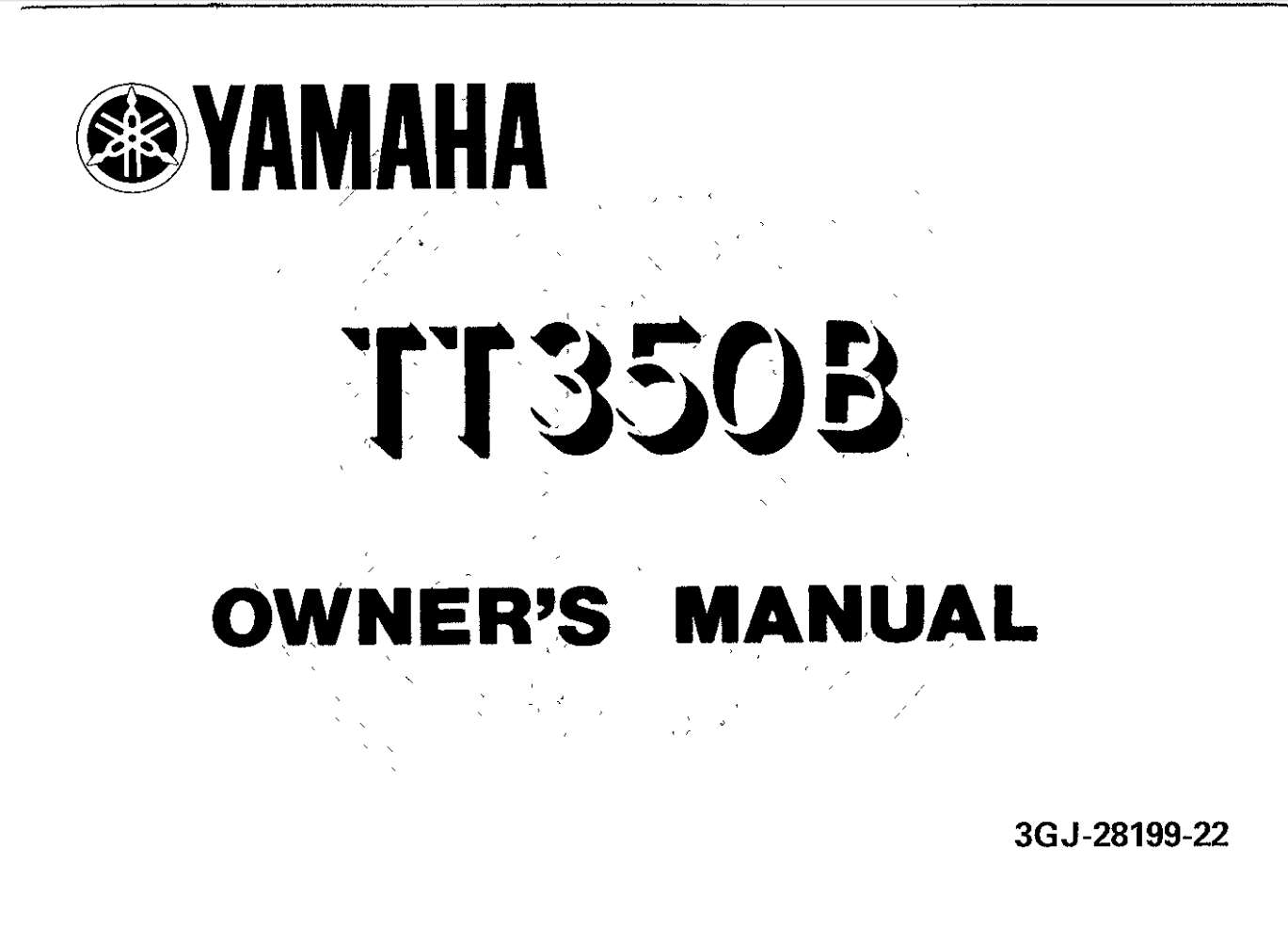 Yamaha TT350 B 1991 Owner's Manual