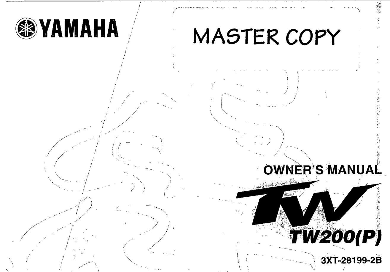 Yamaha TW200 P 2002 Owner's Manual