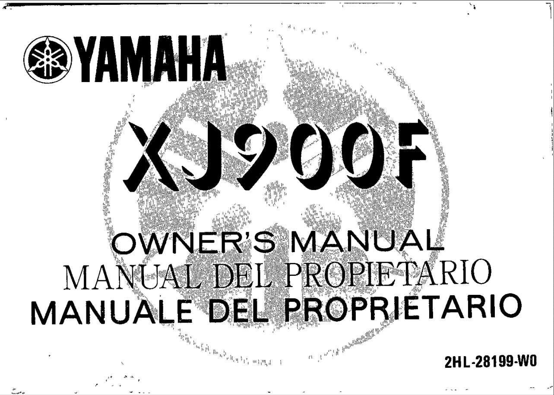 YAMAHA XJ900S DIVERSION SERVICE REPAIR MANUAL DOWNLOAD 95
