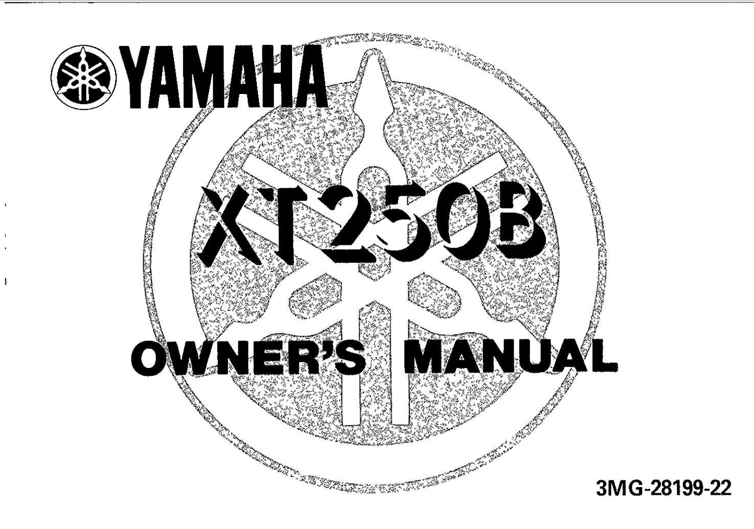 Yamaha XT250 B 1991 Owner's Manual