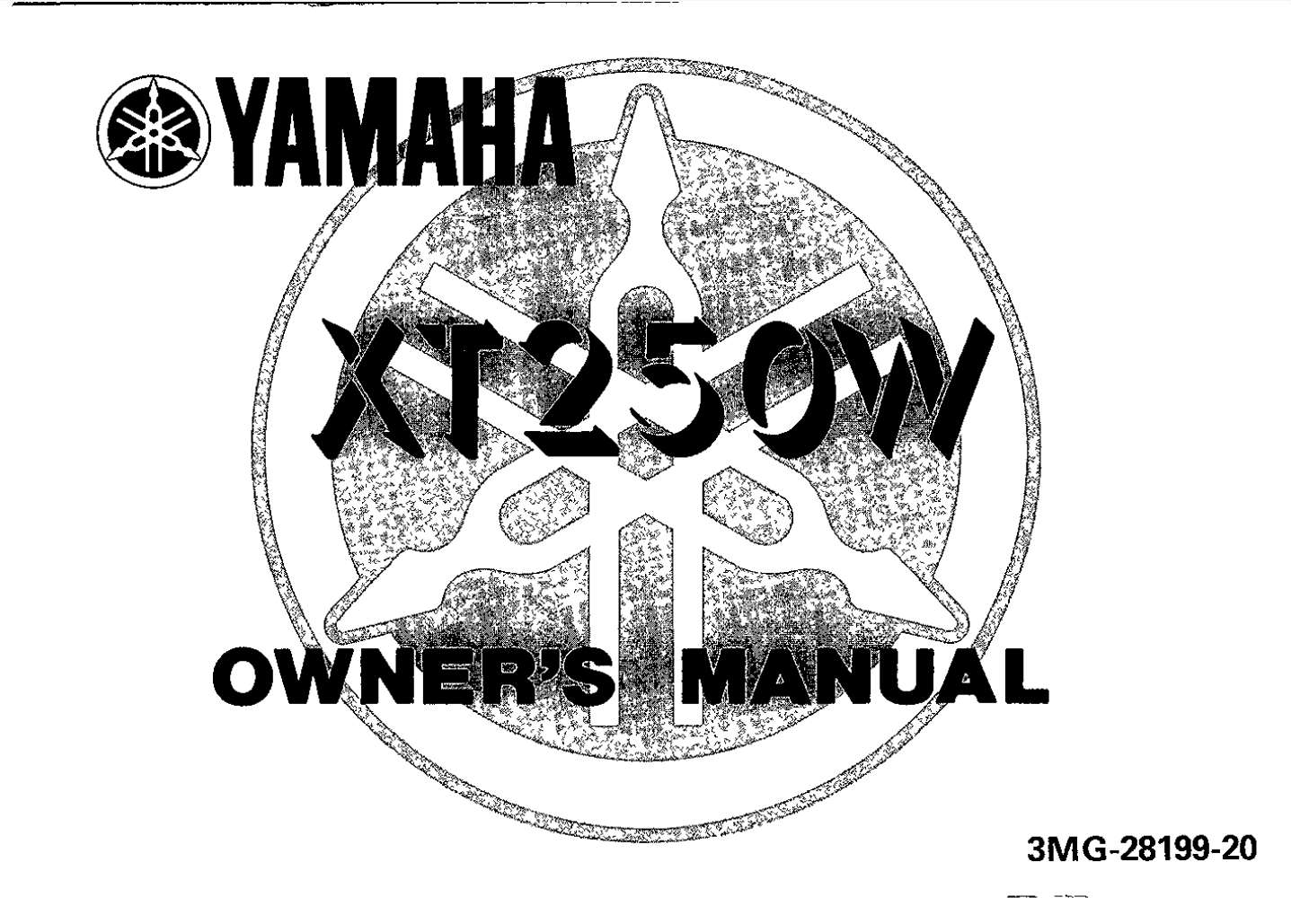 Yamaha XT250 W 1989 Owner's Manual