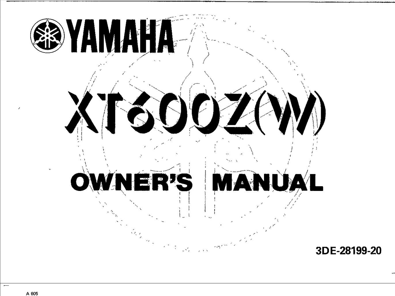 Yamaha XT600 W 1989 Owner's Manual
