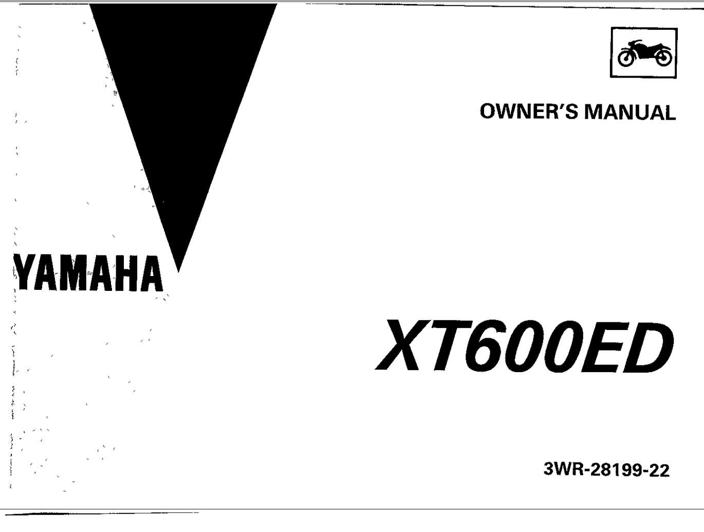 Yamaha XT600E D 1992 Owner's Manual