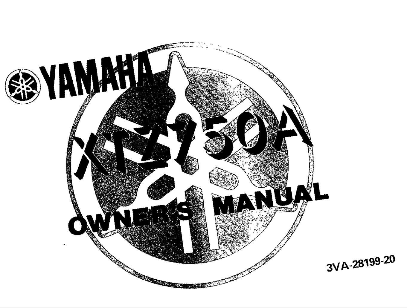 Yamaha XTZ750 A 1990 Owner's Manual