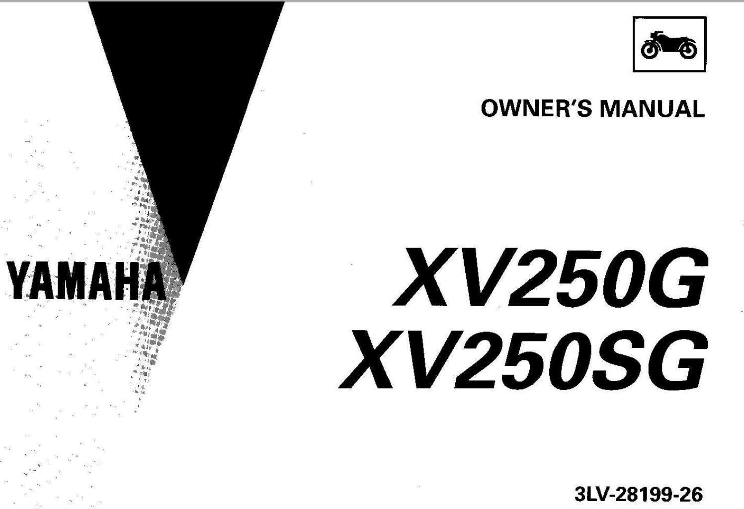 Yamaha XV250 (G) (SG) 1995 Owner's Manual