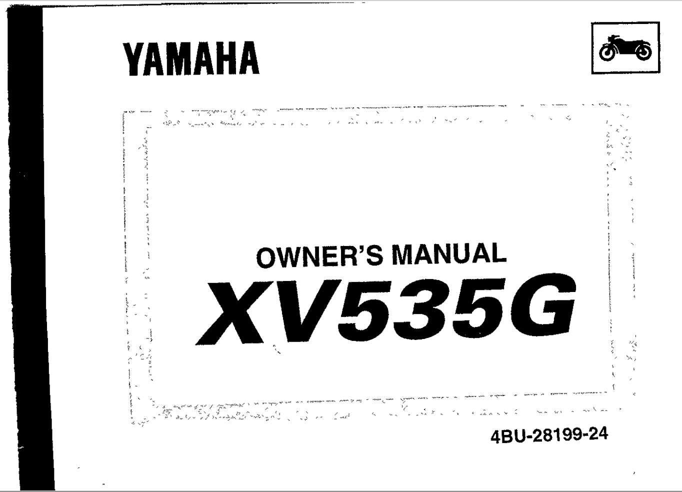 Yamaha XV535 G 1995 Owner's Manual