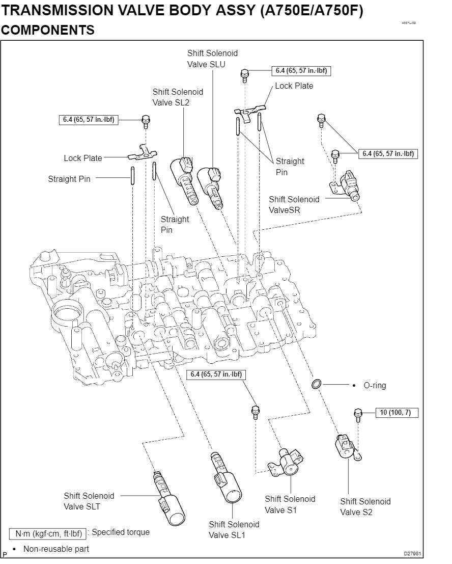 Toyota A750E / A750F Transmission Service and Repair