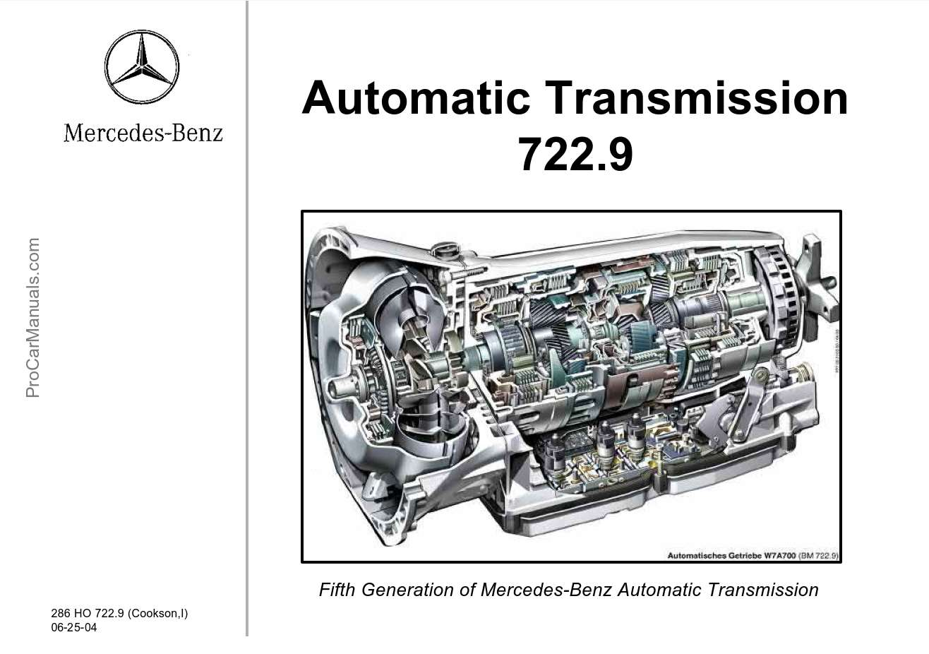 Mercedes-Benz Automatic Transmission 722.9 Technical