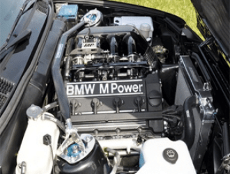 BMW M Power Engine With Radiator