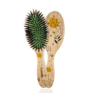 cepillo neumatico cerda jabalí flores