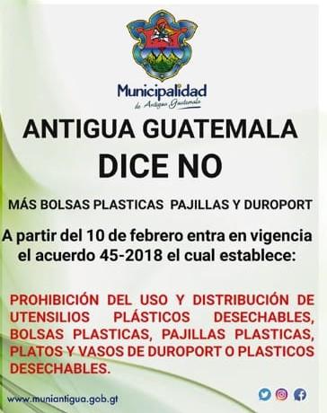 Prohibición de plásticos