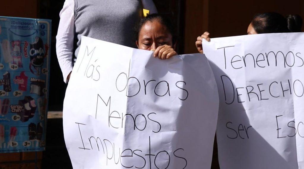 Vendedores protestan en ciudad vieja