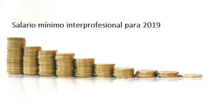 Aumenta el salario mínimo interprofesional para 2019