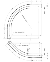 Item # SWS6409024080807, Sweep Elbow On Sterling Process