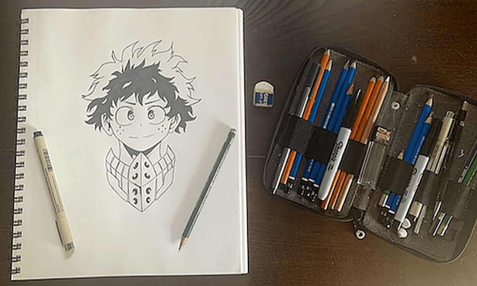 photo How To Draw My Hero Academia Characters Deku my hero academia drawing series izuku midoriya deku sketch small online class for ages 12 16
