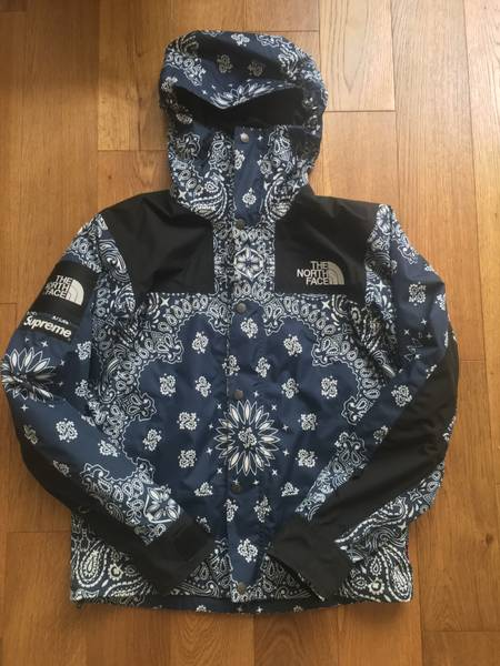 Supreme NYC x The North Face Bandana Jacket Small Navy TNF