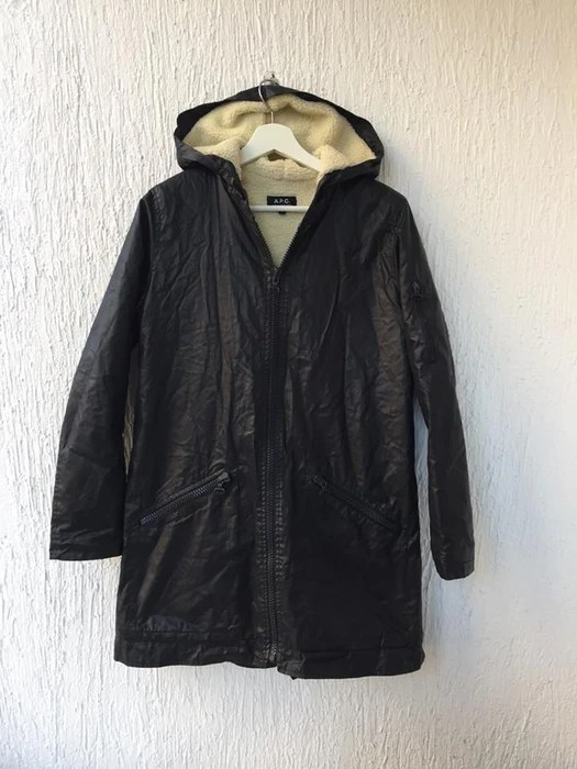 sherpa lined waxed cotton