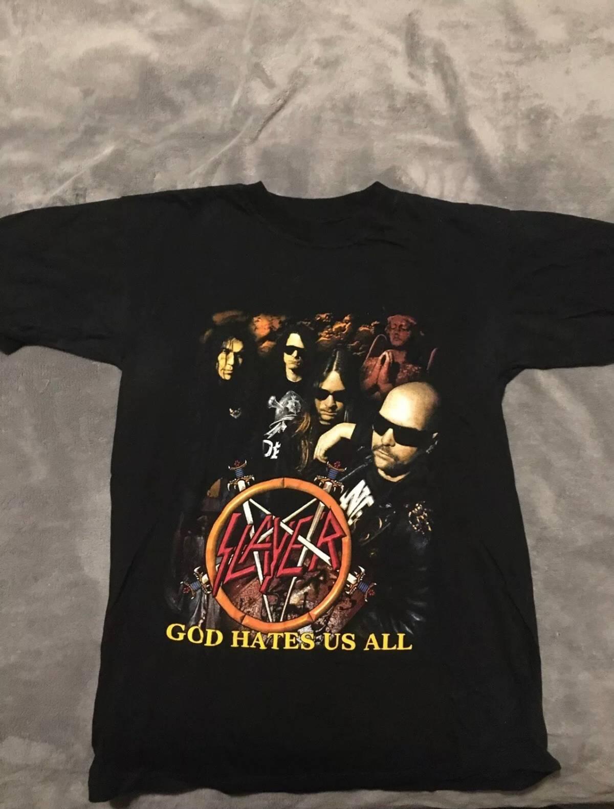 """Slayer God Hates Us All : slayer, hates, Vintage, Slayer, """"god, Hates, All"""", Grailed"""