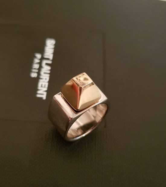 Saint Laurent Paris Silver 925 Stud Heavy Ring New | Grailed
