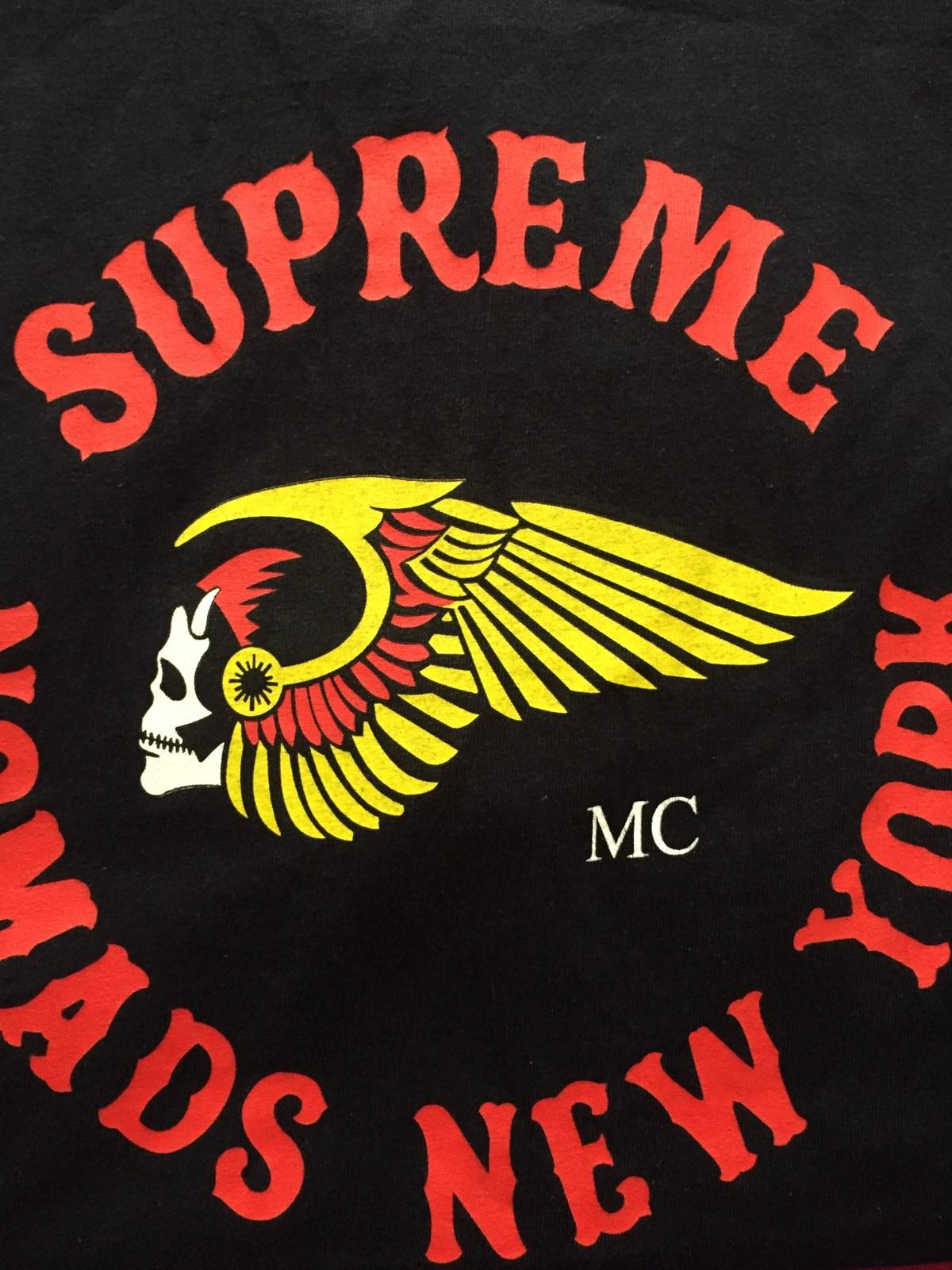 Supreme Supreme Nomads hells Angels New York Tee Shirt  Grailed