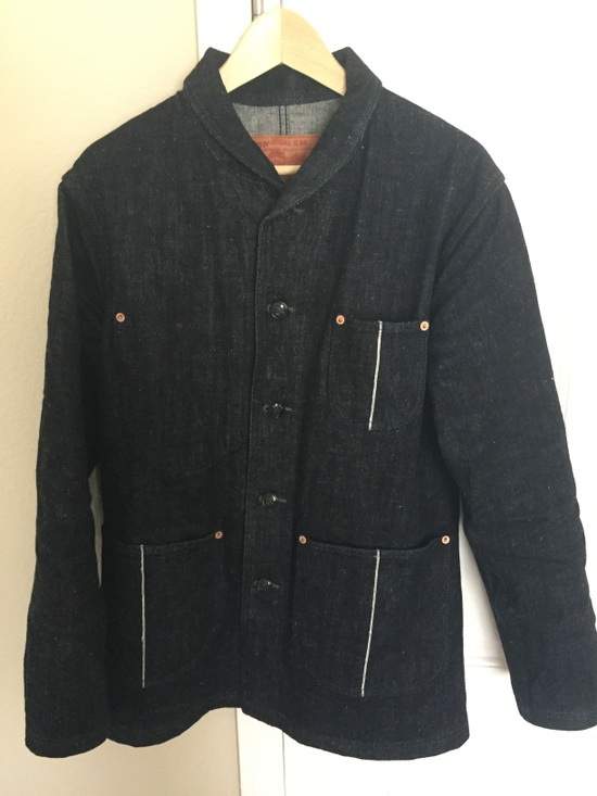 Studio D'Artisan D4401 Shawl Collar Denim Jacket Size l