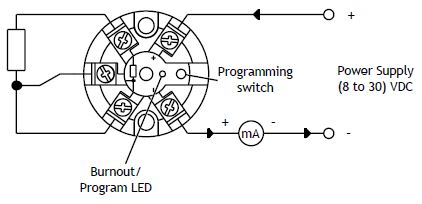 SEM203P In Head 4-20mA Temperature Transmitter for Pt100