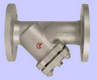 """Strainer PN 16 Y-type, with flanged ends and drain-plug 1/2"""", 24 bar Image"""