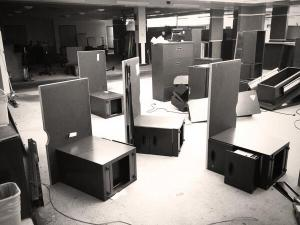 Photo of The Press of Atlantic City newsroom being dismantled.