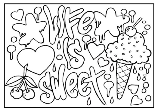inspirational quotes coloring pages Coloring Page Cartoon
