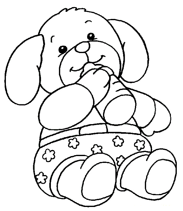 Teddy Bear Coloring Pages For Kids