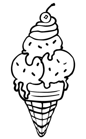 Ice Cream Coloring Pages for Free Download