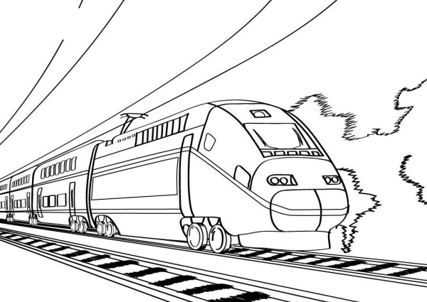 train color pages free printable # 13