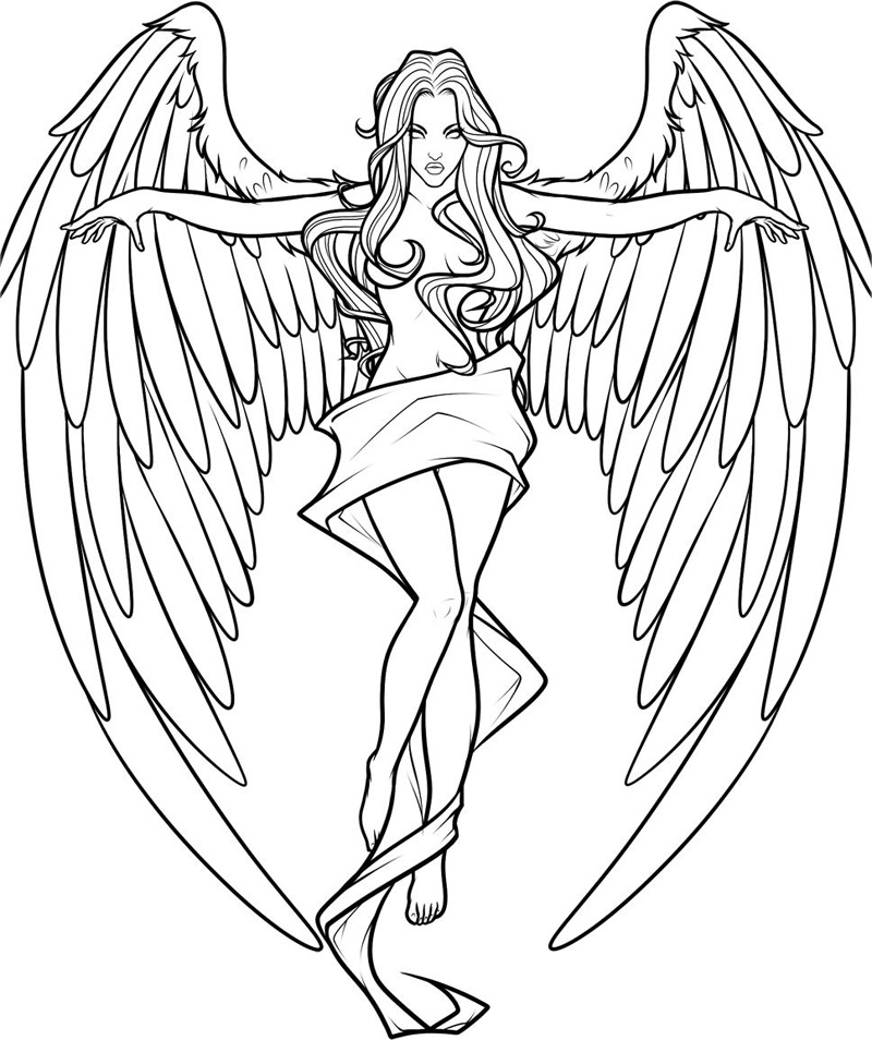 Angel Coloring Pages Download