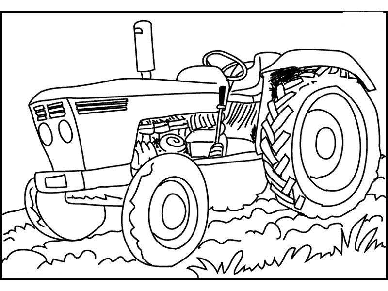 25 Tractor Coloring Pages