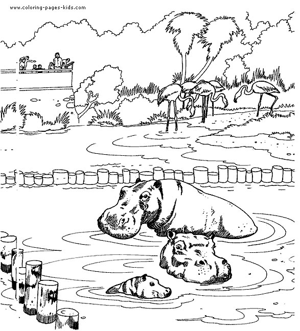 Hippo Coloring Pages Download