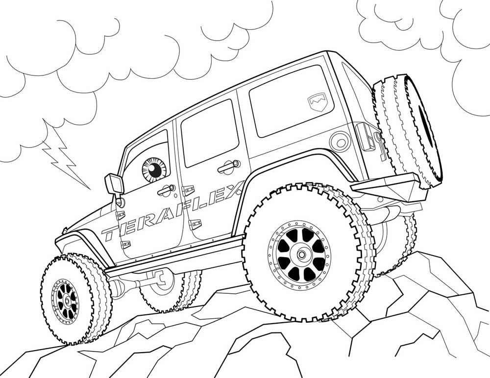 Jeep Cherokee Coloring Pages Coloring Pages
