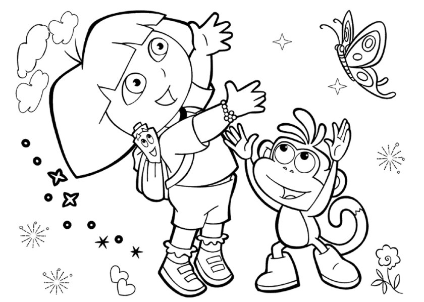 wonderful dora the explorer coloring pages