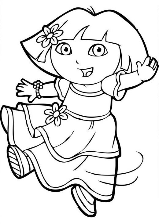 25 Wonderful Dora The Explorer Coloring Pages
