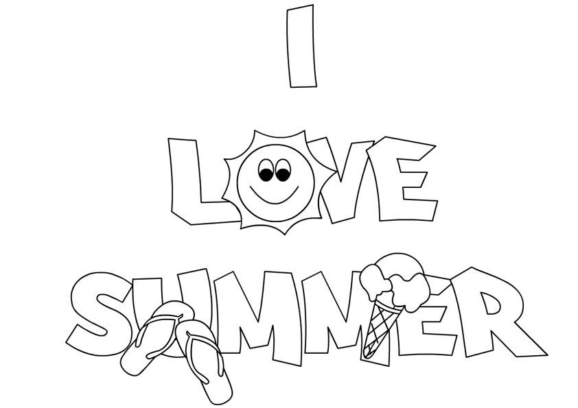 Kindergarten Coloring Worksheets I Like Summer