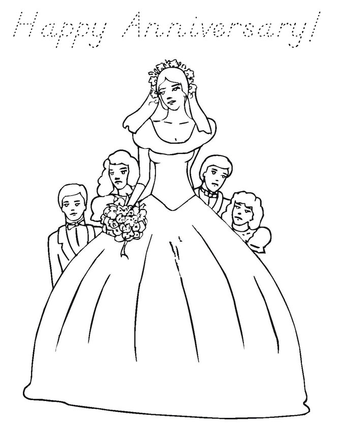Happy Anniversary Coloring Pages for Download