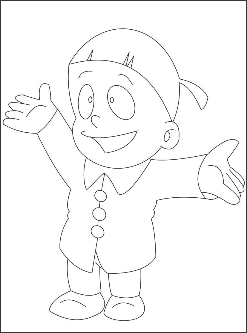 Huge Collection of Ninja Hattori Colouring Pages