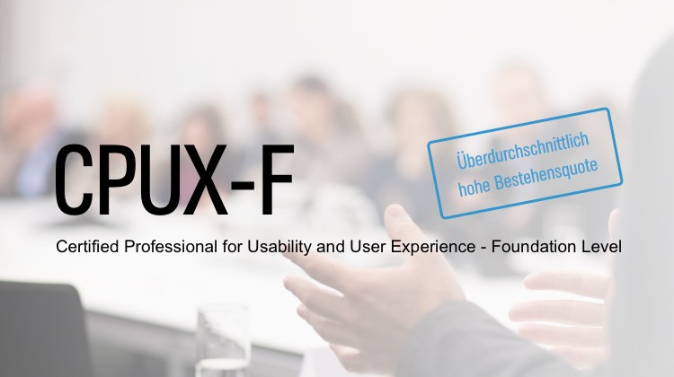 Seminar CPUX-F: Certified Professional for Usability and