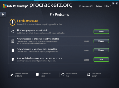 AVG PC TuneUP cracked