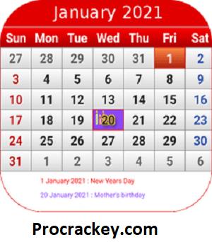 Calendar MOD APK Crack