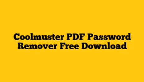 Coolmuster PDF Password Remover