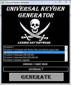 Universal Keygen Generator crack