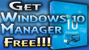 Windows 10 Manager Crack 2017