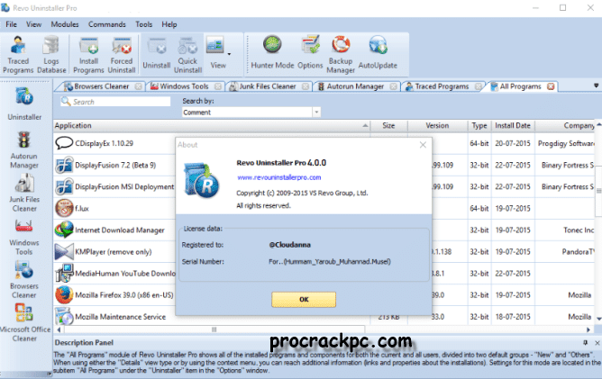 Revo Uninstaller Pro 4.1.5 Crack With Keygen Download