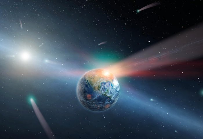 earth-comets-asteroid-impacts-water-illustration-shutterstock155504771